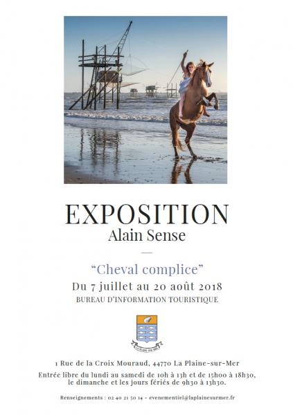 EXPOSITION DE PHOTOGRAPHIES CHEVAL COMPLICE PAR ALAIN SENSE Affiche_alain_sense