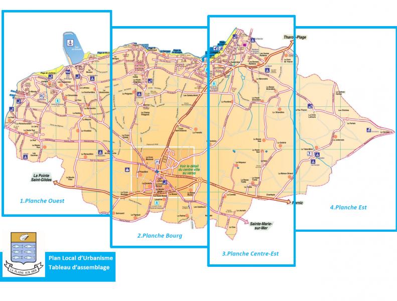 la plaine sur mer carte Plan de zonage | Mairie de La Plaine sur Mer